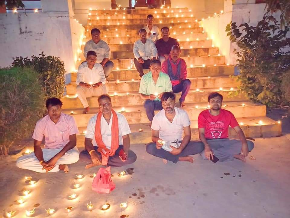 Jungle Baba dazzled with lamps