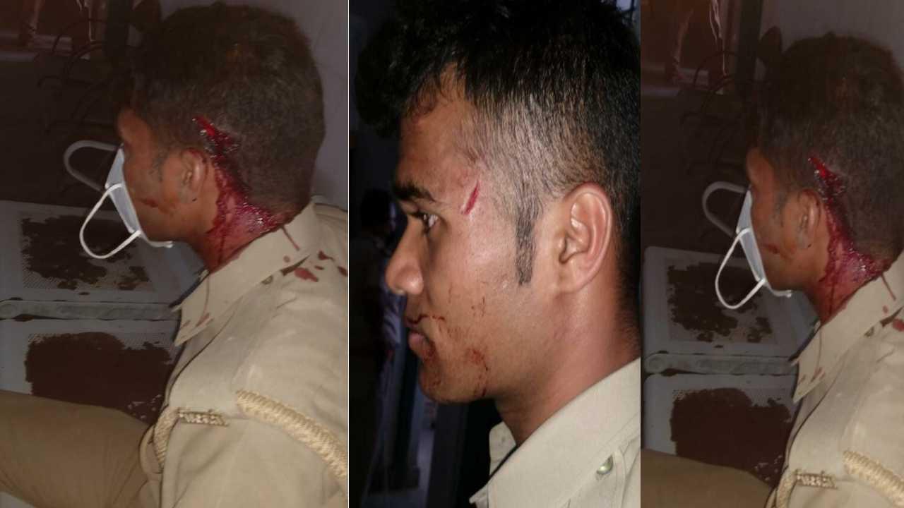 बीरनों थाने क्षेत्र में भिड़ को हटाने गई पुलिस टीम पर ग्रामीणों ने किया हमला, कई पुलिस कर्मी घायल