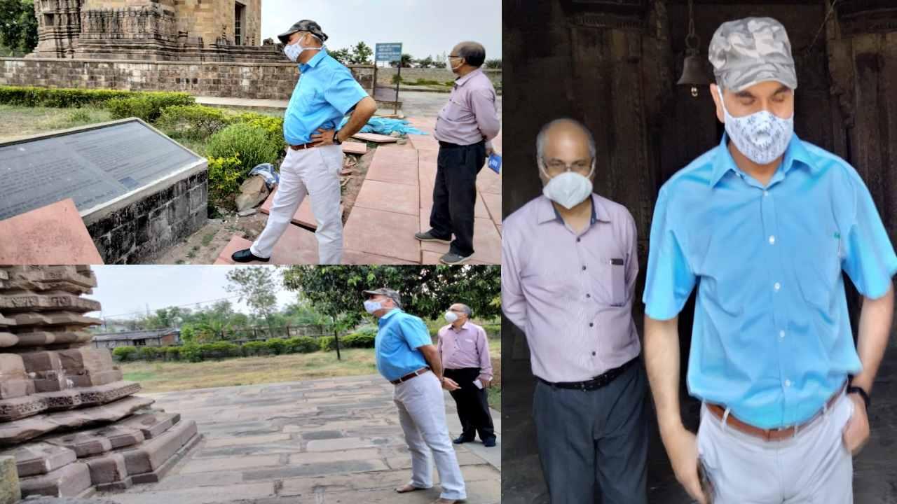 कमिश्नर ने ऐतिहासिक विराट मंदिर का किया निरीक्षण